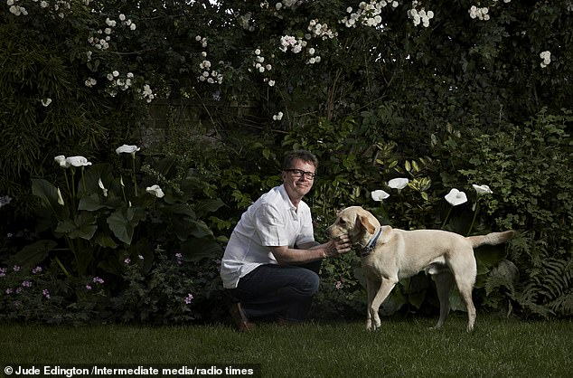 Nicky with his beloved golden labrador Maxwell