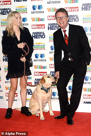 With Maxwell and daughter Breagha at the Animal Hero Awards, 2019