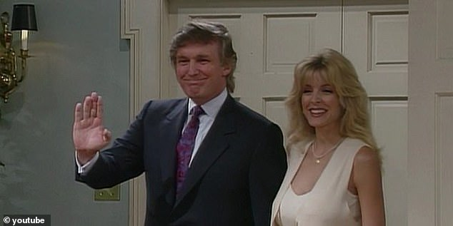 SAG-AFTRA says it 'represents approximately 160,000 actors, announcers, broadcast journalists, dancers, DJs, news writers, news editors, program hosts, puppeteers, recording artists, singers, stunt performers, voiceover artists and other media professionals'. Trump is pictured featuring on The Fresh Prince Of Bel-Air
