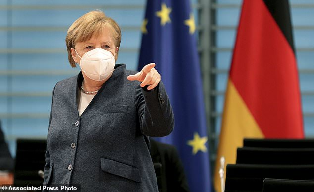 Merkel said 70 of the country´s 401 regions saw the number of new cases go below the target threshold of 50 per 100,000 inhabitants in a week