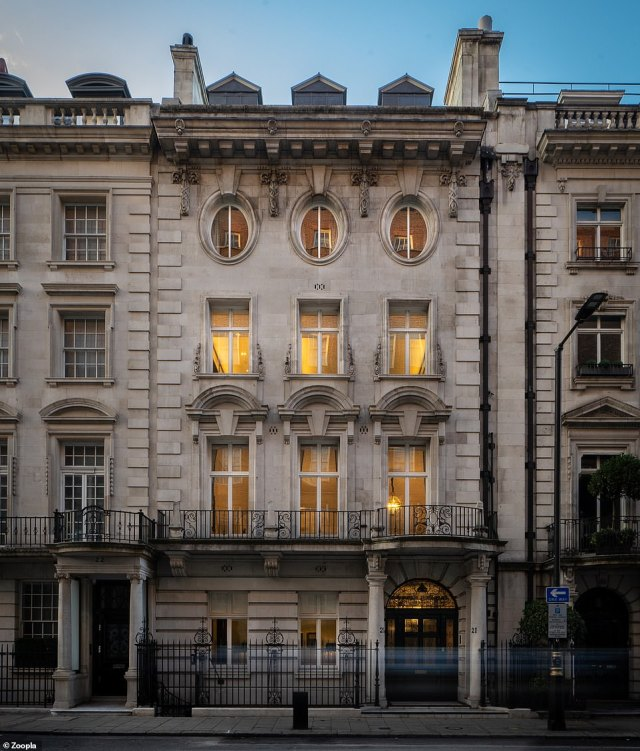 The most expensive property for sale in the list is this 12-bedroom townhouse in London¿s affluent Mayfair, with a price tag of £54.5m