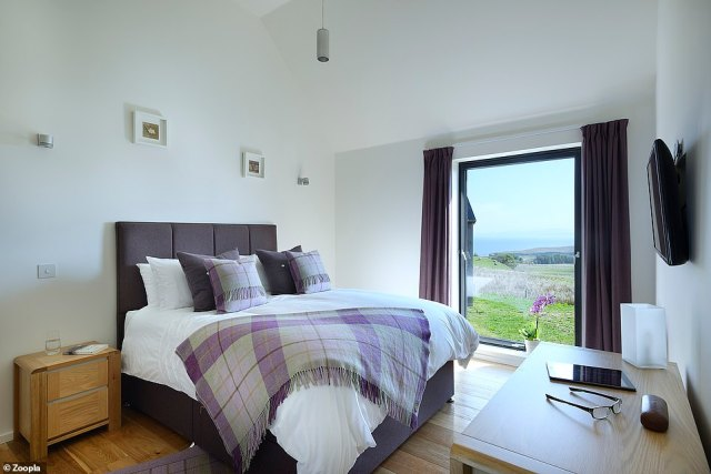 Views of the sea and mountains: There are two bedrooms at the remote property on the Isle of Skye