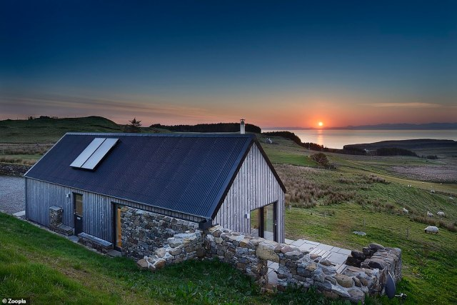 Stunning: This two-bedroom detached property in Grealin, on the Isle of Skye, is for sale for £400,000