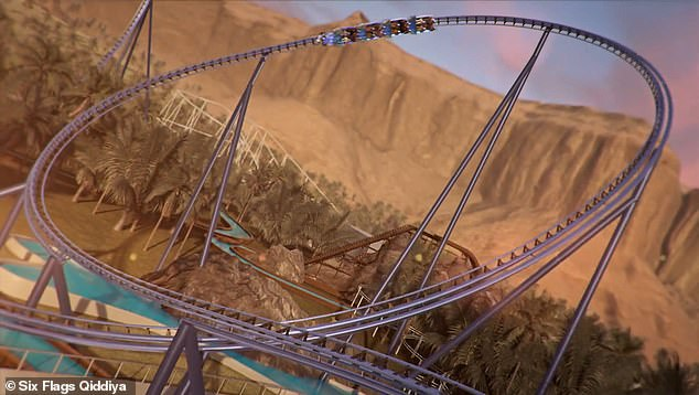 The world's fastest roller coaster is set to take thrill seekers for a three-minute ride around a massive track while 'achieving unprecedented speeds' of 155 miles per hour