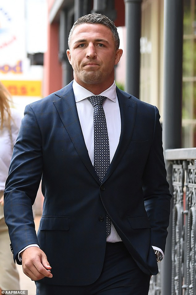 NRL star Sam Burgess has been found guilty of intimidating his father-in-law during a heated clash in the aftermath of his messy break-up with wife Phoebe