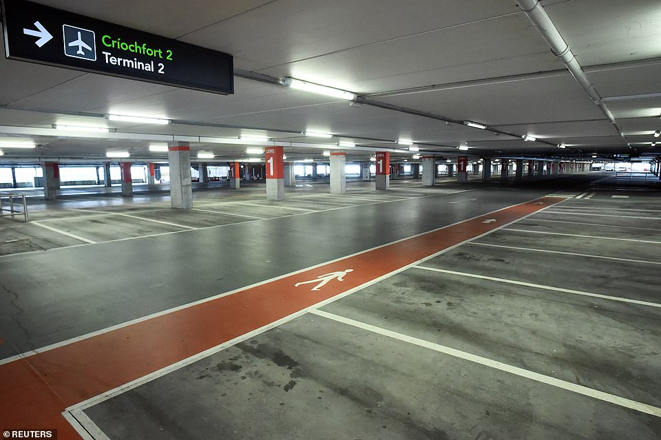IRELAND: An empty car park at Dublin Airport last Friday as the coronavirus pandemic continues to hammer airlines