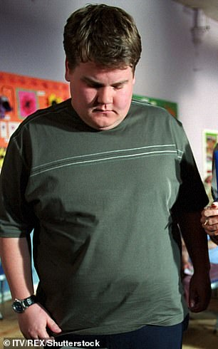 Younger Days: Rose to fame on the 2000 TV series Fat Friends (pictured)