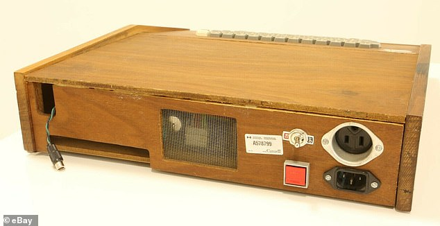 The fully-functional model (pictured) is being sold by Krishna Blake of the US, who purchased the machine in 1978 — and comes with its manuals and a cassette interface