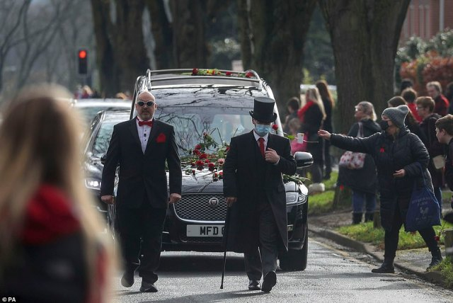 During the funeral, Mr Stephens described how Olly's family felt 'blessed' to have known him, adding: 'The time we shared with Oliver is our most precious gift'