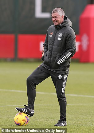 Solskjaer has been all smiles in training this week after United returned to winning ways