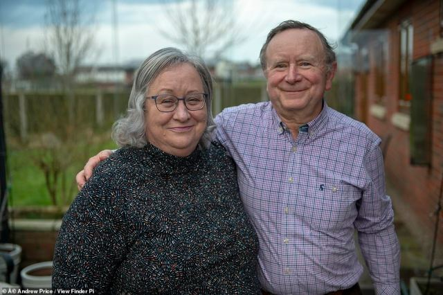 Viral council meeting star Jackie Weaver (pictured with her husband Stuart) has insisted she did have the power to boot out a 'disruptive' council chairman who ordered her to 'stop talking' in a now-viral Zoom hearing, MailOnline can reveal