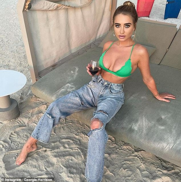 It's back! On Friday, Georgia Harrison said Love Island will go ahead this summer, adding TV bosses have already started interviewing hopefuls (pictured in Dubai, where she lives)