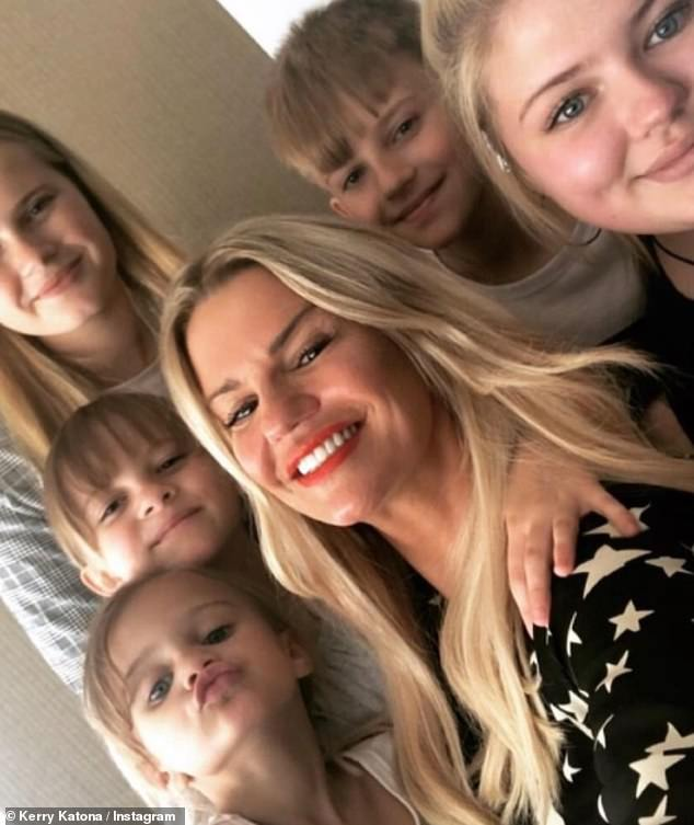 Children:u00A0Kerry is a mother to Molly, 19, Lilly-Sue, 18, with ex-husband Brian McFadden, Heidi, 14, Maxwell, 12, with ex Mark Croft, 49, and Dylan-Jorge, six, whose father George Kay tragically passed away in 2019 (pictured in 2020)