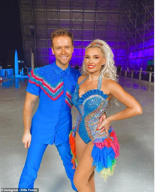 'I'm going to miss it': The Mummy Diaries star, 31, took to Instagram on Sunday to upload a photo of herself with professional partner Mark Hanretty from their 'first and last' dance
