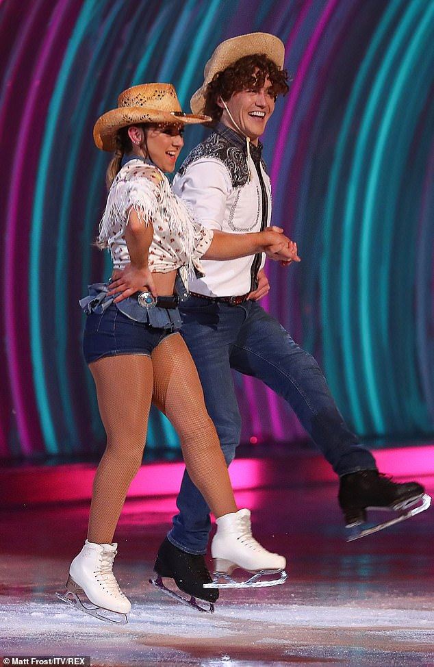 YeeHaw!Amy Tinkler and Joe Johnson showcased their linedance moves on Sunday's show