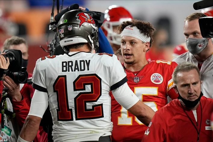 Patrick Mahomes came up short in his attempt to repeat as an NFL champion as Tom Brady won his record seventh title