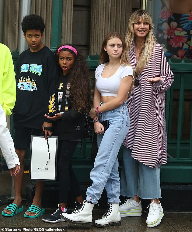 Family: Heidi shares three other biological children with the British musician: Henry, 15, Johan, 14, and their daughter Lou, 11