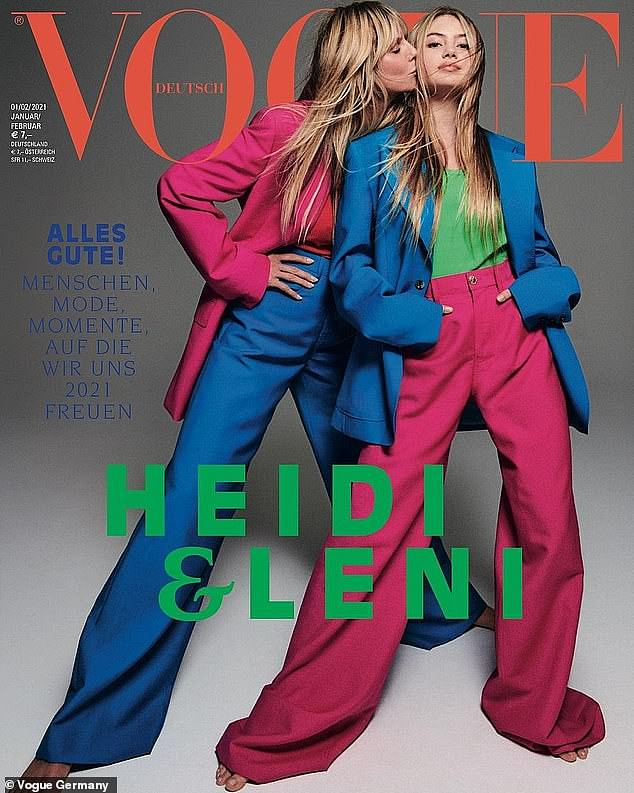 Cover girl: She made her foray into the modelling world in a big way late last year, when she graced the cover of Vogue Germany alongside her supermodel mother, Heidi Klum