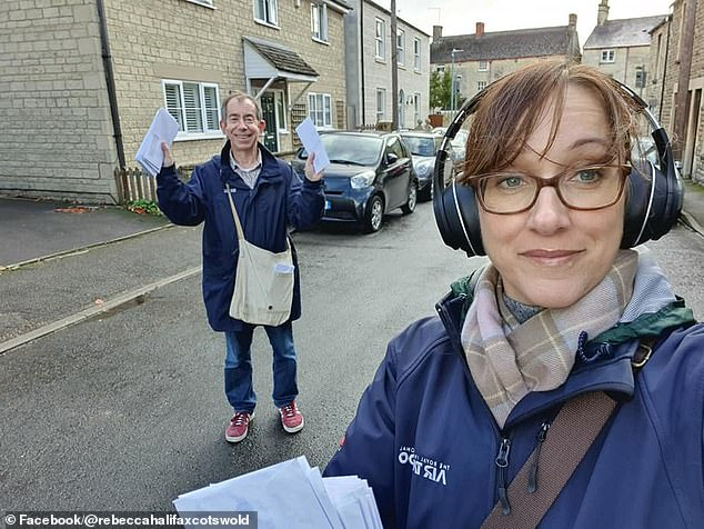 Cirencester Town Councillor Rebecca Halifax was warned by police after delivering leaflets