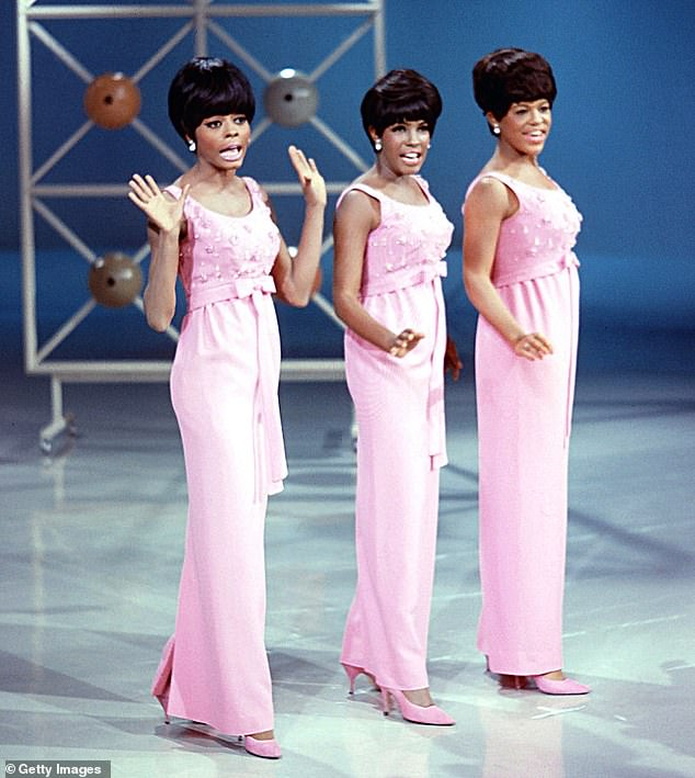 Popular: The Supremes onstage in 1965 (L-R: Diana Ross, Mary Wilson and Florence Ballard)