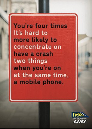 The 'Think! Put Your Phone Away' campaign will take place from 8 February to 21 February