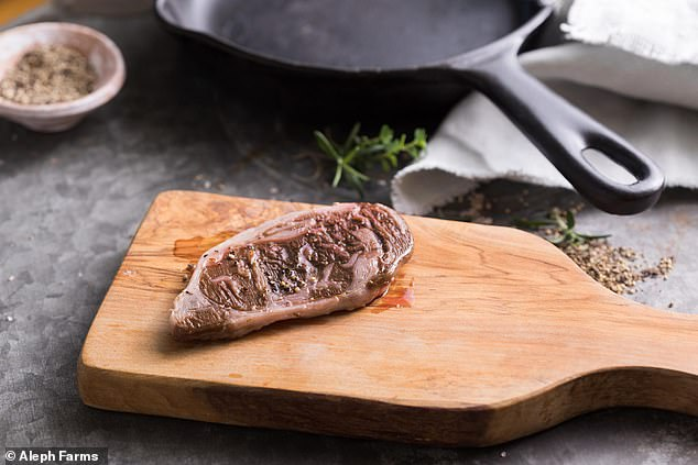 Israeli scientists took swabs from two cows, cloned and grew them in a lab, and pieced it all together to form this steak
