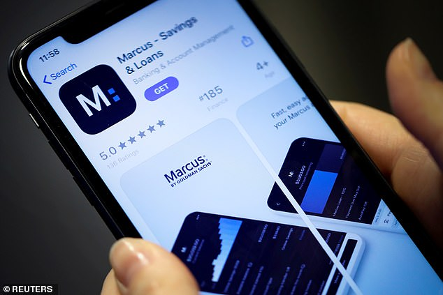Top rate: The popular Marcus account by Goldman Sachs bank will pay 0.5 per cent - more than double what you can earn with the average easy-access deal on offer