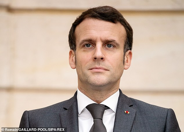 French President Emmanuel Macron, pictured above, warned against leaving 'the intellectual debate to others' as he cautioned of the 'certain social science theories entirely imported from the United States' during a speech onthe 'Fight against Separatism' in October
