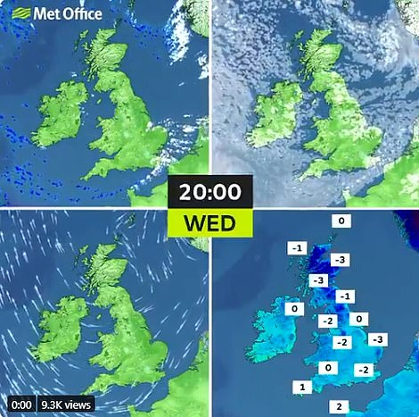 The Met Office has issued a string of yellow weather warning for snow and ice across the country today