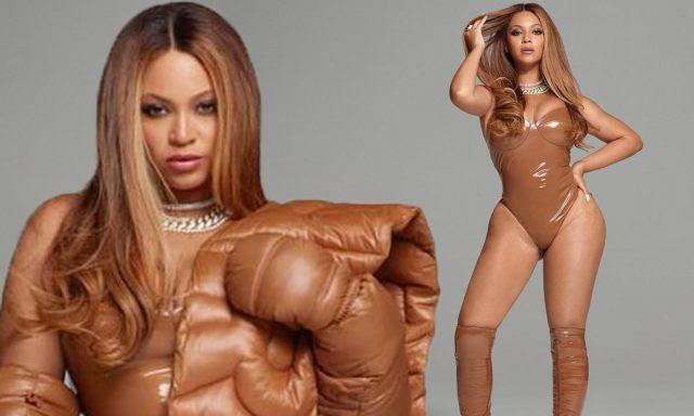 Image result for beyonce  new brown vinyl  bodysuit costume