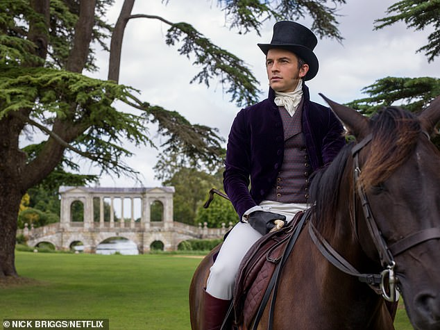 In his sights: Simone will play the love interest of Anthony Bridgerton [played by Jonathan Bailey, pictured] with the second instalment of the Netflix sensation focusing on his character
