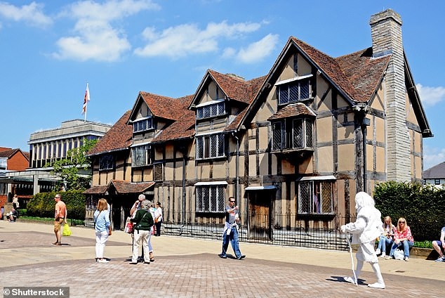 Oxford, Cambridge and Stratford-Upon-Avon, the birthplace of William Shakespeare, could be some of the tourist-heavy English places that get digitally replicated. Pictured, Shakespeare's birthplace along Henley Street with 'Shakespeare's ghost' in foreground