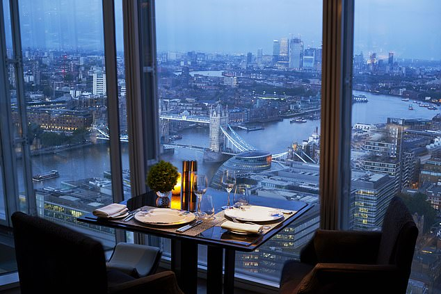 The fraudster' spree also included a stay at the Shangri-La Hotel in London's Shard (pictured)