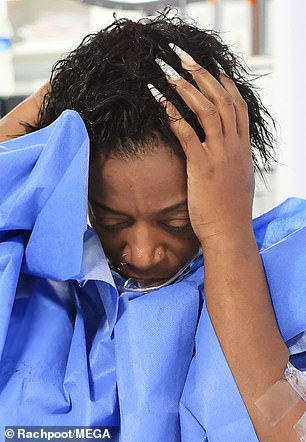 Welcome surprise: Tessica had feared that she would lose all of her hair during the process, however Dr. Obeng was able to salvage her short locks