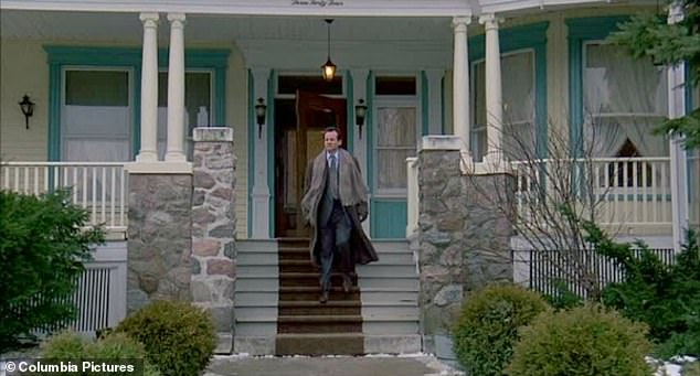 Bill Murray emerges from what is now the Cherry Tree Inn in Groundhog Day