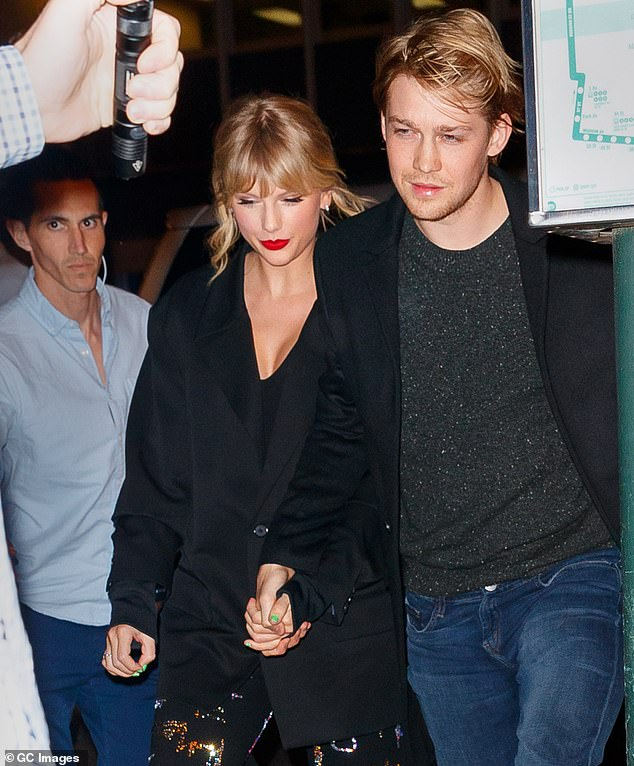Big step: Back in February, it was reported that Taylor and her beau of four years Joe are renting a £5.5million home in London together (pictured in 2019)