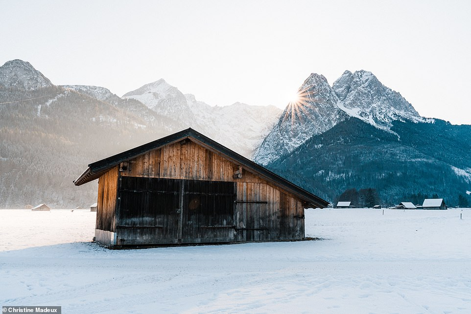 Christine says that the valleys among the Bavarian Alps are dotted with these huts, known in German asHeustadel, which were traditionally used to store hay. This is one of many located in Garmisch-Partenkirchen