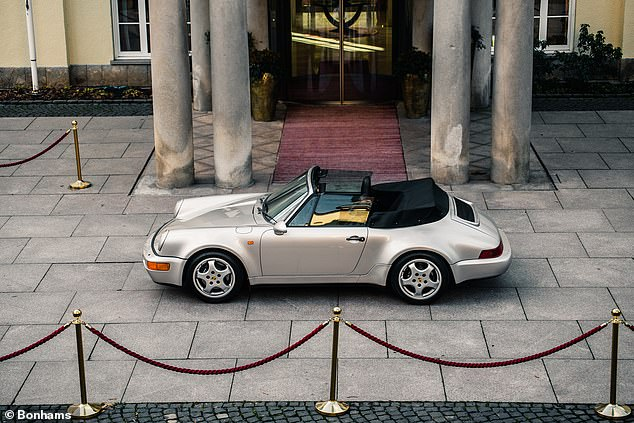 El Diego's motor: This 1992 Porsche 911 was bought new by the late Diego Maradona to be sold at auction