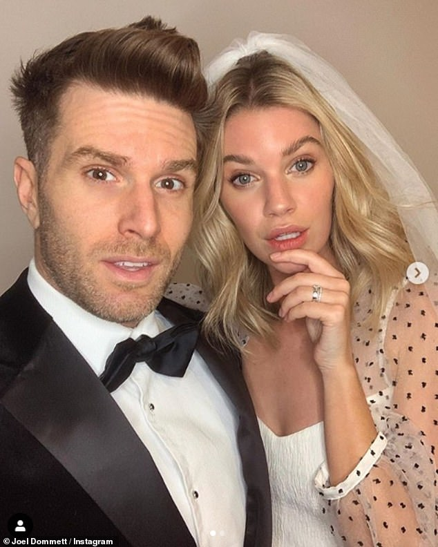 Couple:Joel and model Hannah married in a romantic ceremony in Mykonos, Greece in September 2019