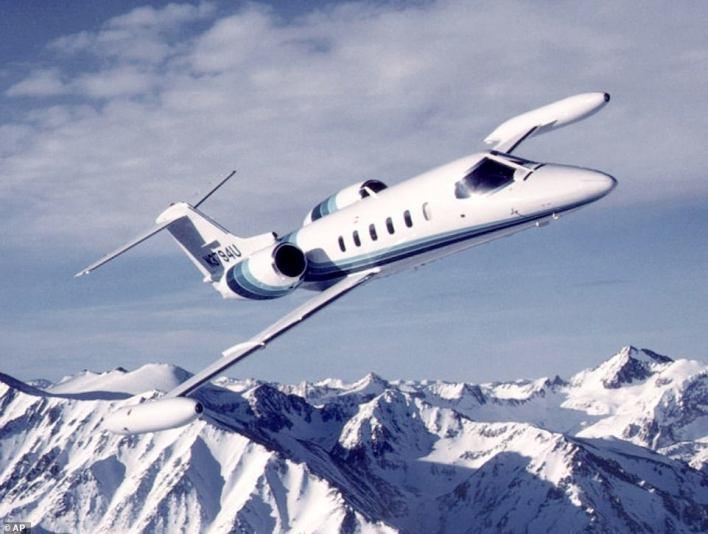 A Learjet 35A light twin-turbofan business jet is shown in an undated file photo