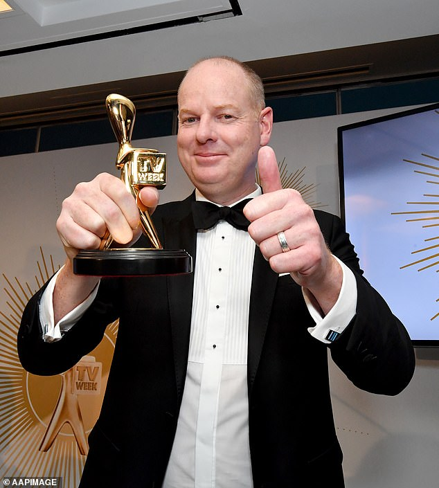 Top honour:Meanwhile, comedian Tom Gleeson, 46, still holds the top honour, having been awarded the Gold Logie in 2019