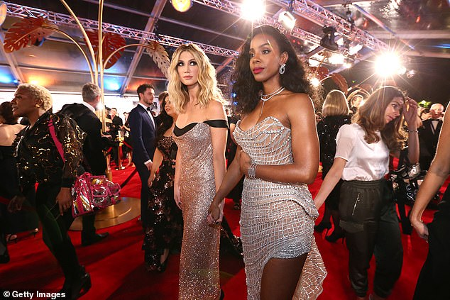 Shelved: Organisers promised 'an even bigger event on the Gold Coast in 2021' when the 2020 event was officially cancelled in a statement released early last year. Pictured: Delta Goodrem (left) and Kelly Rowland (right) at the 2019 ceremony