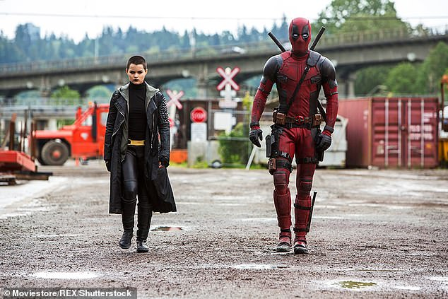 Whoops: His ruse didn't hold up much long after he joked, 'Can you imagine if DP was with the MCU at Disney?'; still from Deadpool (2016)