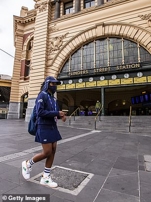 A normally busy Flinders Street Station is deserted on a Sunday morning