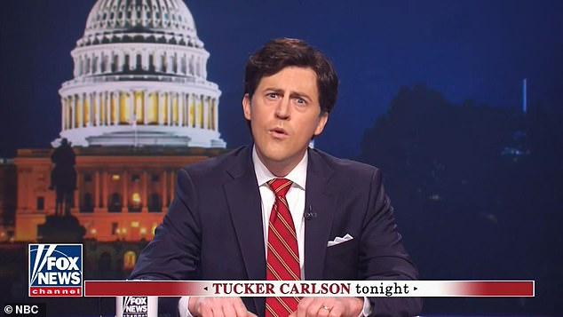 Framed as an episode of Tucker Carlson Tonight, the new SNL mocked the Fox News host, as well as Republican Senators Lindsey Graham, Tex Cruz and Mitch McConnell