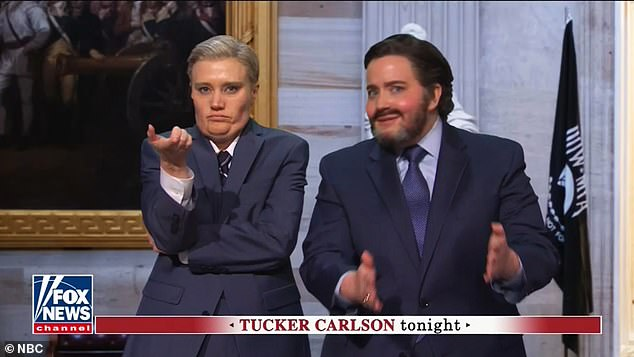 The sketch also took aim at Senate Republicans such as Graham, played by Kate McKinnon, and Cruz, portrayed by Aidy Bryant