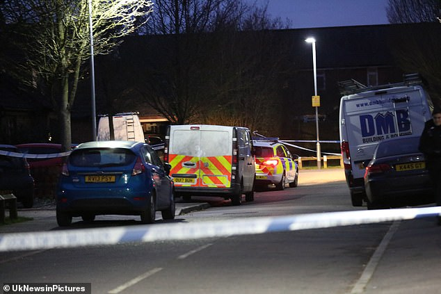 Police were called out to the residential street at around 1am this morning after a man was stabbed in the chest