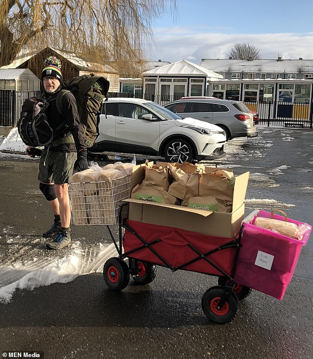 The deputy head teacher at Western Primary School has now walked more than 750 miles in total, battling through rain, wind and snow in the past few weeks
