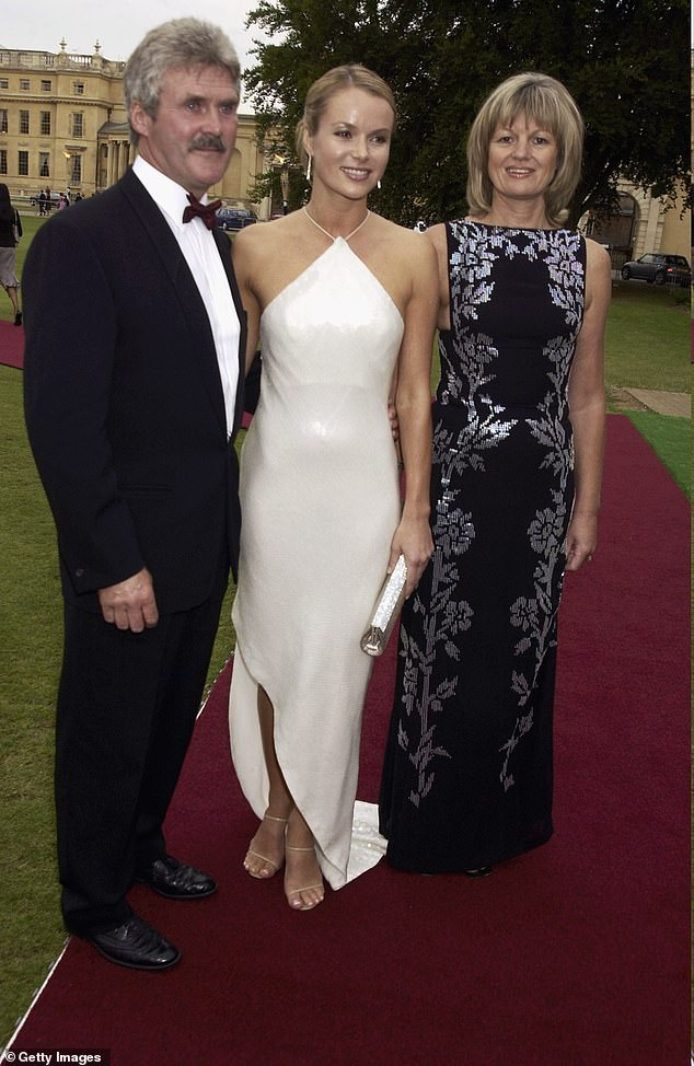 Amanda and her mother and step father attend La Dolce Vita Gala July 2003 in London