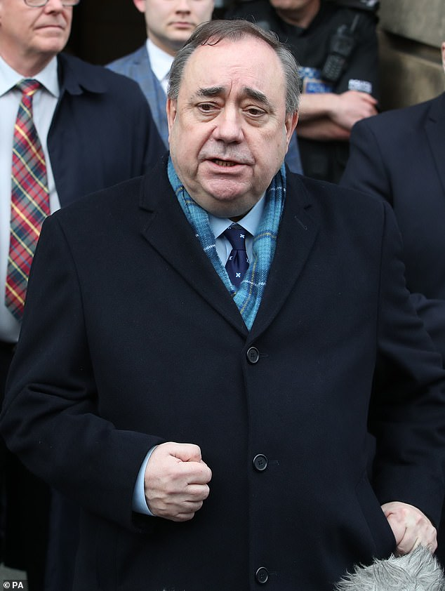 Mr Salmond was accused of attacking nine women while he was First Minister, but a jury found him not guilty on 12 of the sexual assault charges, while another was found 'not proven'
